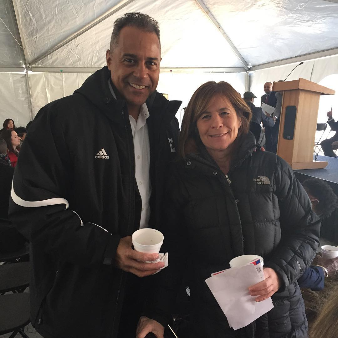 Our VP Leslie Perkul & Promise director Lowell Perry Jr. at the Cuyahoga Metropolitan Housing Authority's Cedar-Central groundbreaking event today.