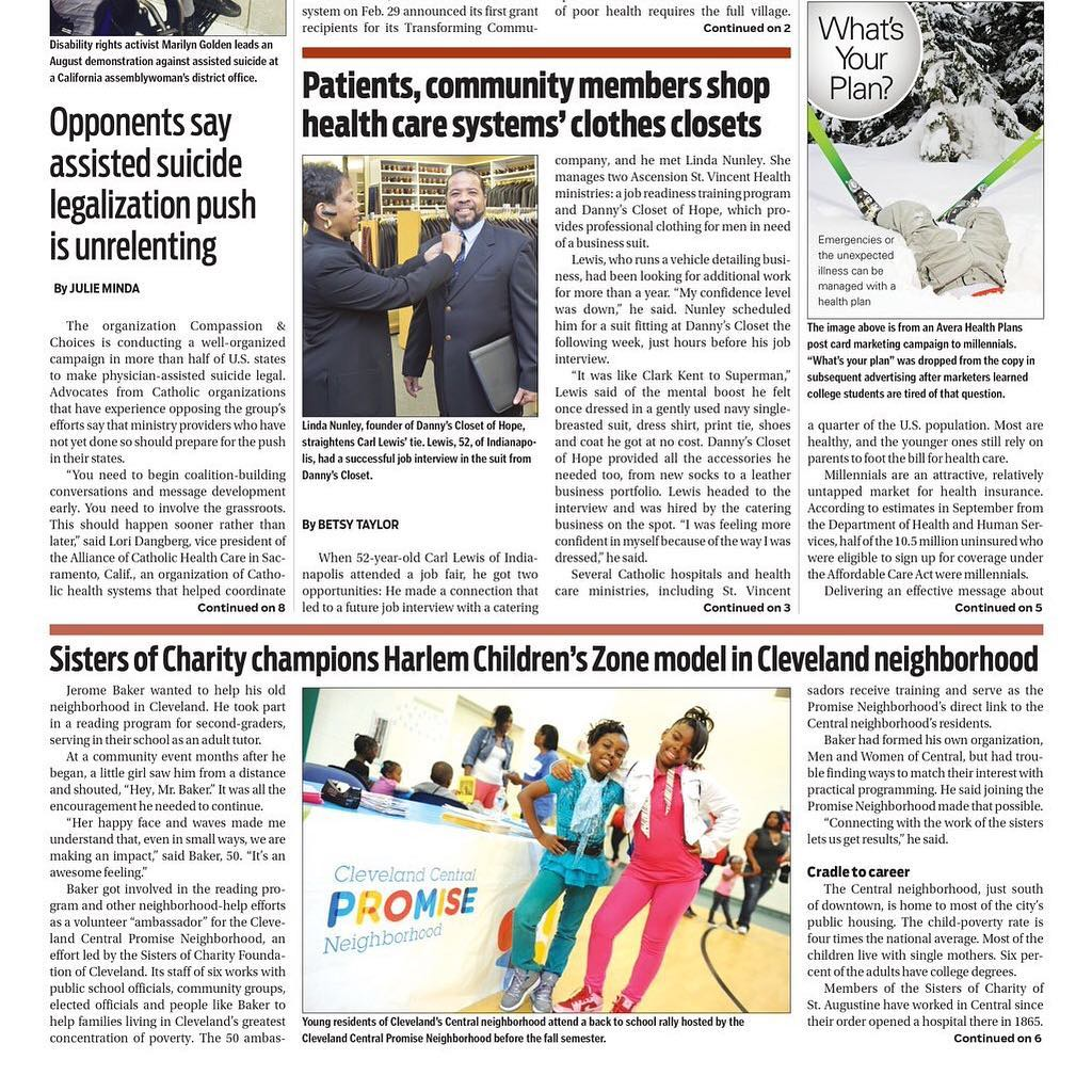 Catholic Health World features Cleveland Central Promise Neighborhood on cover page of March 15 edition! https://socfcleveland.org/Story/catholic-health-world-features-cleveland-central-promise-neighborhood/