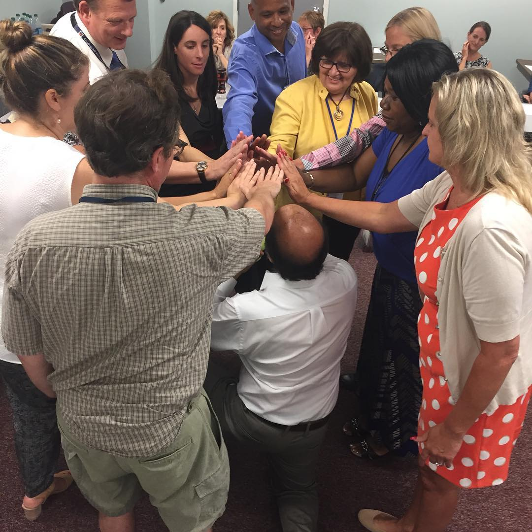 Cleveland's #APlace4Me leaders dove into a team-building exercise for the 100-Day Challenge! #endyouthhomelessness #100daychallengeaccepted