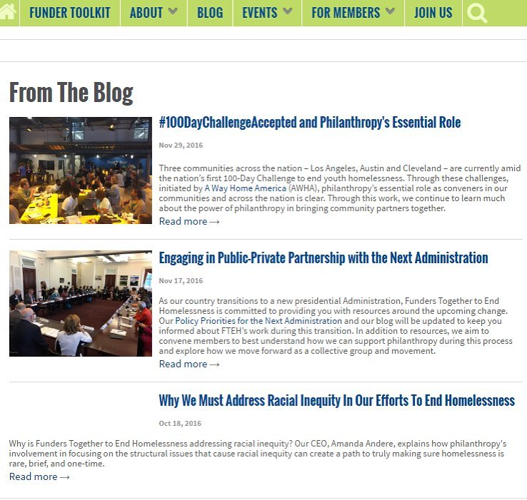 "Thrilled to be the top story on @funderstogether blog! ""#100DayChallengeAccepted and Philanthropy's Essential Role"""