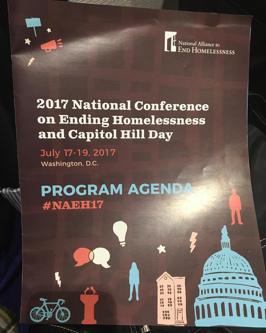 Honored to join so many national leaders in the vital work to #endhomelessness. #NAEH17