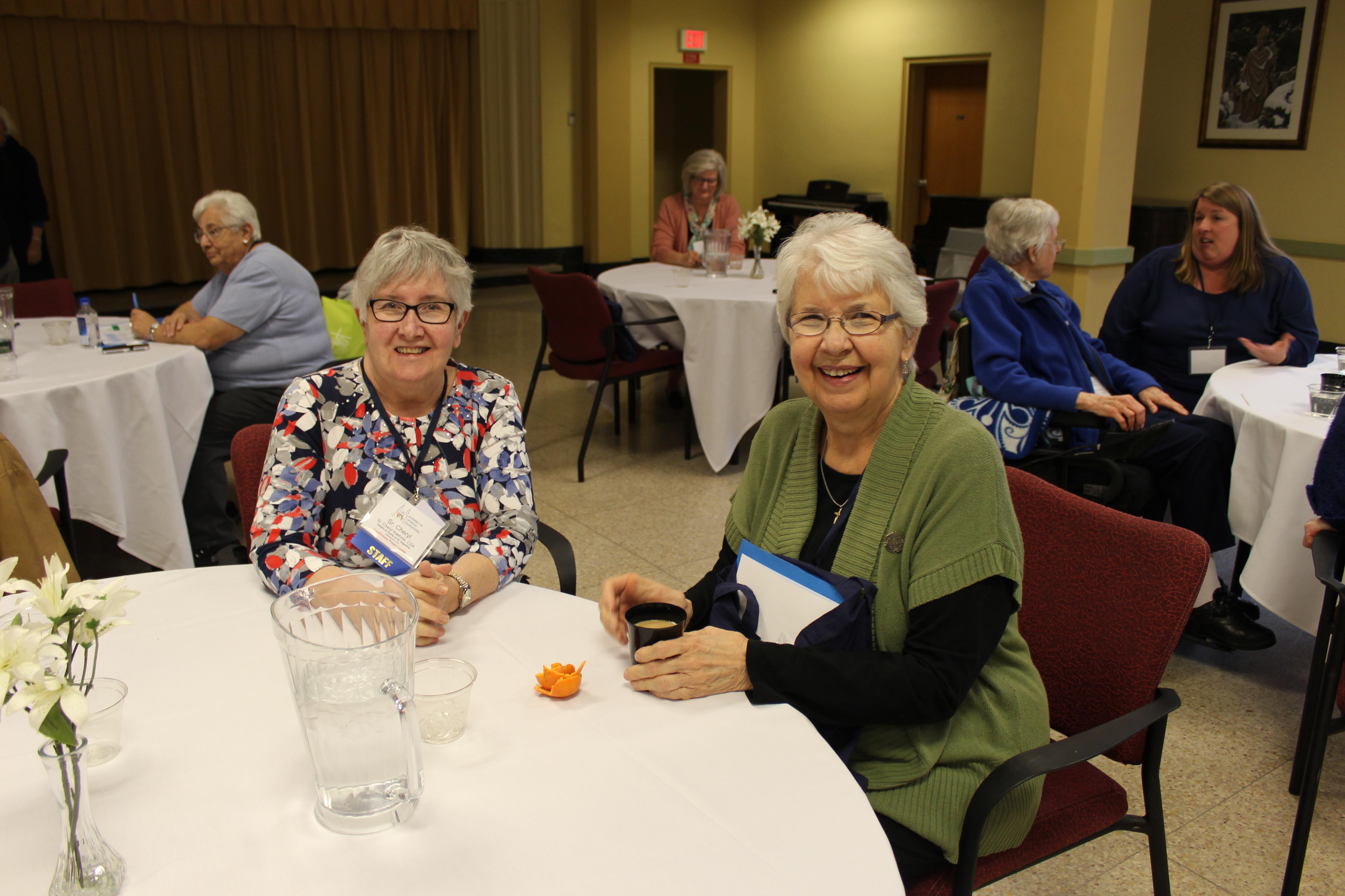 Sister Cheryl Keehner, CSA and Sister Marian Durkin, CSA